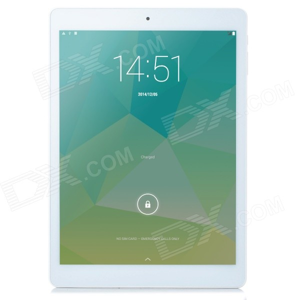 TECLAST T98 4G 9.7 IPS Retina Android 4.4.4 Octa-core Tablet PC w/ 2GB RAM, 16GB ROM - Grey + White created x8s 8 ips octa core 3g android 4 4 tablet pc w 1gb ram 16gb rom eu plug golden