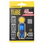 NiteCore TUBE Tiny 45lm 2-Mode Stepless Dimming Frio Branco USB Flashlight recarregável - Azul