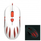 AULA Hexe Liebe USB-2.0-Kabel 1000/1500 / 2000 / 2500dpi Gaming Mouse - weiß + rot