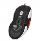 AULA Witch Love USB 2.0 Câblé 1000/1500/2000 / 2500DPI Gaming Mouse - Blanc + Rouge