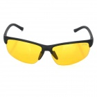 Oulaiou 3109 Outdoor Safety Anti-Explosion Sporty Cycling Goggles - Yellow + Black
