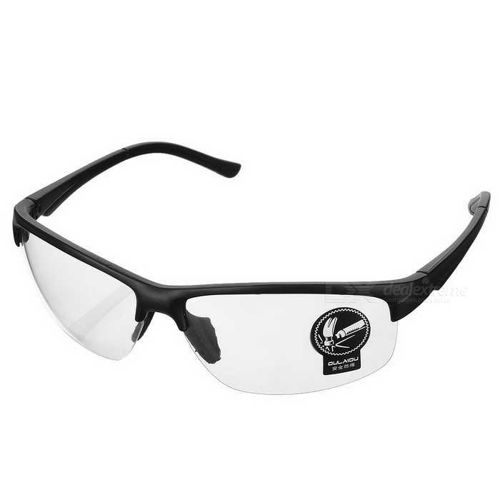 Ooulaiou 3109 Outdoor Safety Anti-Explosion Cycling Goggles - Black + Transparent