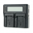 "3"" LCD Dual DU07 / DU14 / DU21 / VBG070 / VBG130 / VBG260 Batteries Charger for Panasonic - Black"
