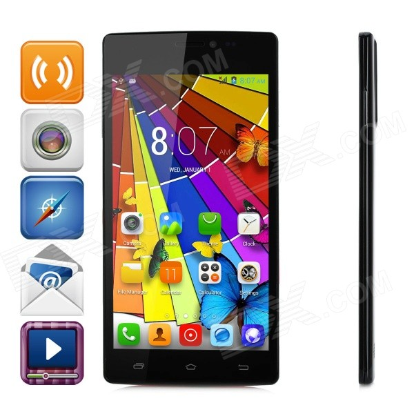 KICCY D2000 5.0 Dual-Core 3G Android 4.2.2 Smart Phone w/ 4GB ROM, Dual-Cam, Dual-SIM - Pink jiake f1w 5 0inch capacitive touch screen mtk6572 dual core 1 2ghz smartphone 512mb 4gb 2 0mp 0 3mp android 4 2 os 3g gps with protective case black