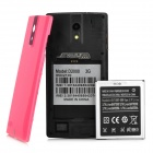 "KICCY D2000 5.0"" Dual-Core 3G Android 4.2.2 Smart Phone w/ 4GB ROM, Dual-Cam, Dual-SIM - Pink"