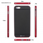 "MO.MAT Medo Plastic Bumper Frame + TPU Soft Back Cover Case for IPHONE 6 Plus 5.5"" - Black + Red"