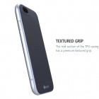 "MO.MAT Medo Plastic Bumper Frame + TPU Soft Back Cover Case for IPHONE 6 4.7"" - Black + Silver"