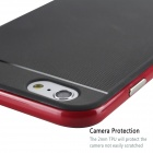 "MO.MAT Medo Plastic Bumper Frame + TPU Soft Back Cover Case for IPHONE 6 4.7"" - Black + Red"