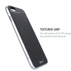 "MO.MAT Medo Plastic Bumper Frame + TPU Soft Back Cover Case for IPHONE 6 Plus 5.5"" - Black + Silver"