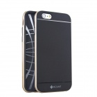"MO.MAT Medo Plastic Bumper Frame + TPU Soft Back Cover Case for IPHONE 6 4.7"" - Black + Champagne"