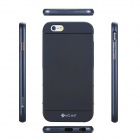 "MO.MAT Medo Plastic Bumper Frame + TPU Soft Back Cover Case for IPHONE 6 4.7"" - Black + Blue"