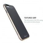 "MO.MAT Medo Plastic Bumper Frame + TPU Soft Back Case para IPHONE 6 Plus 5.5"" - Preto + Golden"
