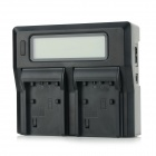 "3"" LCD Dual FP50 / FP70 / FP90 / FH50 / FH70 / FH100 / FV50 Batteries Charger for Sony - Black"