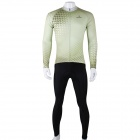 ShengQi Men's Long-sleeve Cycling Jersey + Pants Set - Green + Black (XXL)