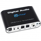 oTime OT-5R DTS / AC-3 Digital Audio Decoder w/ 5.1 Channel Output - Black