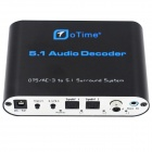oTime OT-5A DTS / AC-3 Audio Decoder w/ 5.1 Channel Output - Black