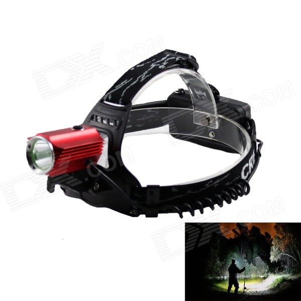 KINFIRE LED 580lm 3-Mode White  Outdoor Headlamp - Black + Red (2 x 18650) 950lm 3 mode white bicycle headlamp w cree xm l t6 black silver 2 x 18650
