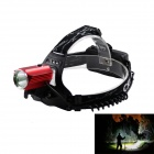 KINFIRE LED 580lm 3-Mode White  Outdoor Headlamp - Black + Red (2 x 18650)