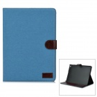 Protective PU Leather Flip-Open Case w/ Stand for IPAD AIR 2 - Light Blue