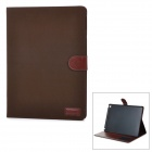 Protective PU Leather Smart Case w/ Stand / Card Slots for IPAD AIR 2 - Coffee