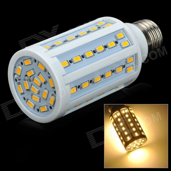 E27 15W 1200lm 71-SMD 5730 LED Warm White Light Lamp - White + Yellow (220V) lexing lx qp 20 e14 6w 470lm 3500k 15 5730 smd led warm white light dimmable lamp ac 220 240v