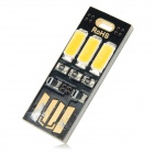 2W 3-5730 SMD LED Warm White Light USB Powered Lamp - Black (5V)