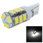 SENCART T10 4W 140lm 6500K 5730 SMD LED White Light Lamp for Car / Motorcycle (DC 12~16V)