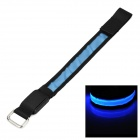 SENCART Outdoor LED Emitting 3-Mode Safety Armband - Black + Blue (2 x CR2032)