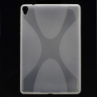 """X"" Pattern Non-Slip Protective TPU Back Case for Google Nexus 9 - Transparent"