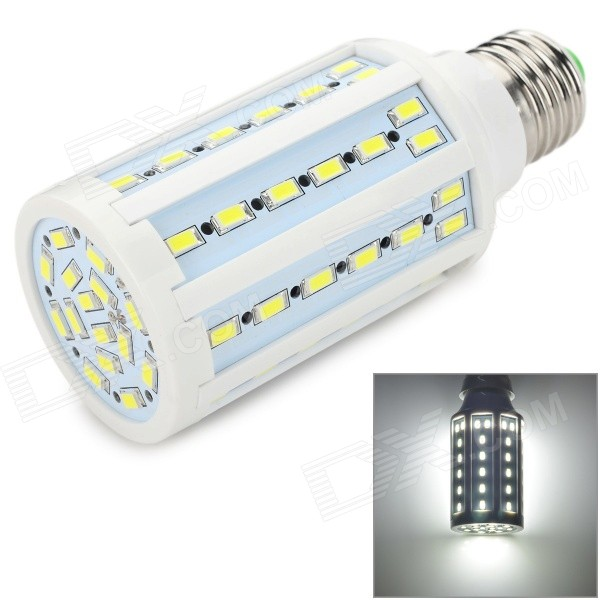 E27 15W 1200lm 7000K 71 x 5730 SMD LED White Light Mazie Lamp - White + Silvery Grey (AC 220V) e27 10w 950lm 6500k 56 smd 5730 led white corn lamp white silvery grey ac 220 240v