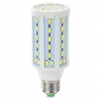 E27 15W 7000K 1200lm 71 x 5730 LED SMD White Light Mazie Lamp - Branco + Cinza prateado (220V AC)