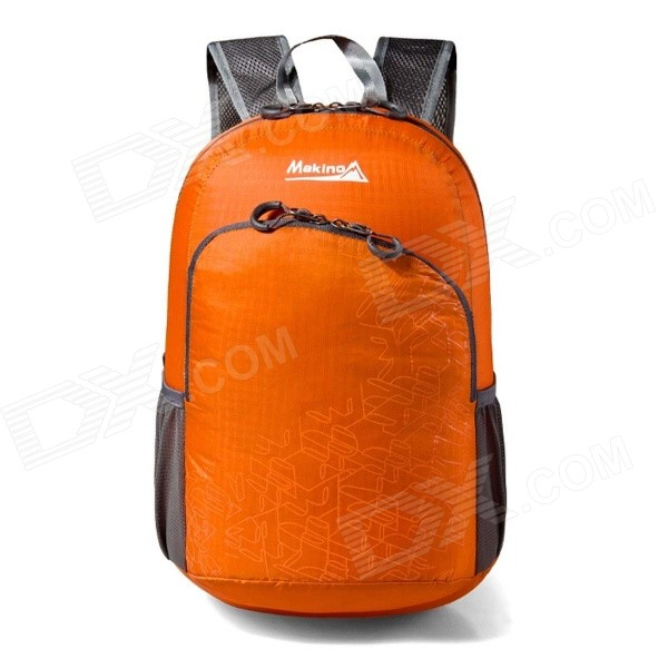 Makino 5504A Foldable Outdoor Sports Chinlon Backpack - Orange (22L)