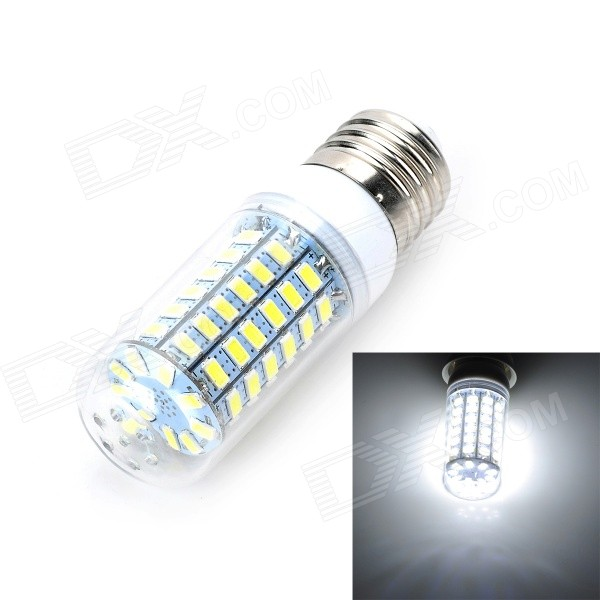 Marsing E27 12W 1000lm 6500K 69-SMD 5730 LED White Light Bulb Lamp (AC 220-240V) marsing e14 12w 1000lm 3500k 69 smd 5730 led warm white light bulb lamp ac 220 240v