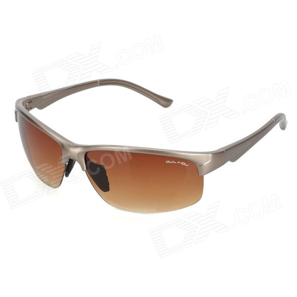 Safety Anti-Explosion Outdoor Cycling Sunglasses - Grey + Tan