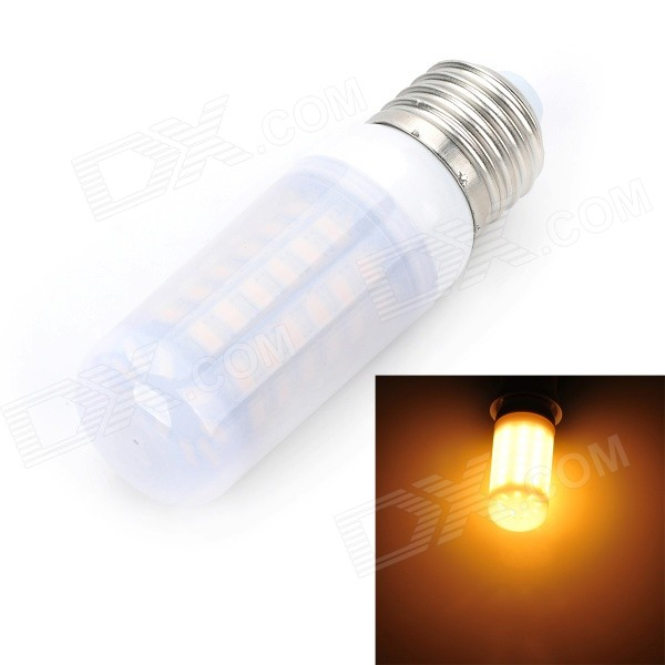 Marsing E27 Frosted Cover 12W 1000lm 3500K 69-SMD 5730 LED Warm White Light Bulb Lamp(AC 220~240V) marsing e27 frosted cover cross 10w 900lm 3500k 56 x smd 5050 led warm white light bulb ac 220v