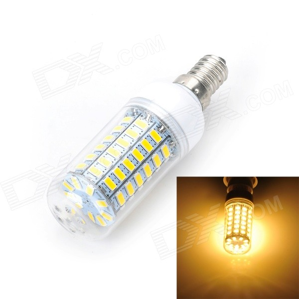 Marsing E14 12W 1000lm 3500K 69-SMD 5730 LED Warm White Light Bulb Lamp (AC 220-240V) marsing e14 12w 1000lm 3500k 69 smd 5730 led warm white light bulb lamp ac 220 240v
