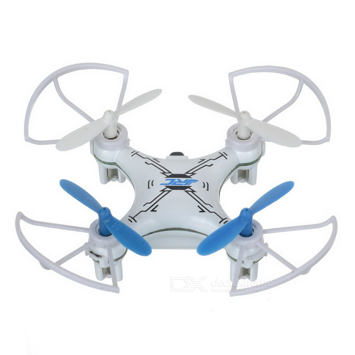 JJRC JJ-810 2.4GHz 4-Channel 360' Eversion Mini R/C Quadcopter Aircraft Toy - White + Blue