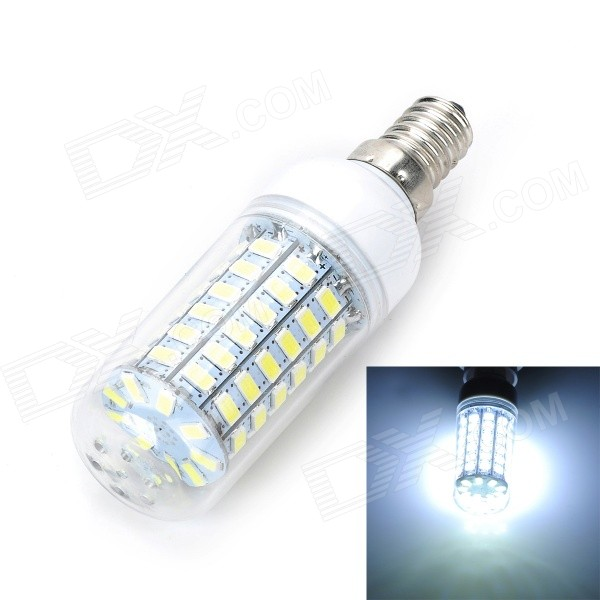 Marsing E14 12W 1000lm 6500K 69-SMD 5730 LED Cool White Light Bulb (AC 220-240V) marsing e14 12w 1000lm 3500k 69 smd 5730 led warm white light bulb lamp ac 220 240v