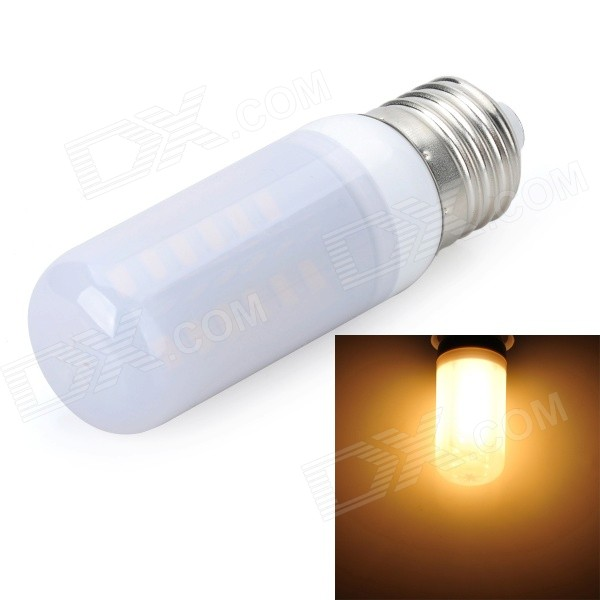 Marsing E27 9W 800lm 3500K 48 x 5730 SMD LED Warm White Frosted Cover Light Bulb (AC 220V) marsing e27 frosted cover cross 10w 900lm 3500k 56 x smd 5050 led warm white light bulb ac 220v