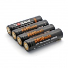 Soshine Li-ion 18650 2600mAh Anode Protection Batteries with Case - Black (4 PCS)