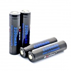 Soshine Li-ion 18650 2200mAh Anode Protection Batteries with Case - Black + Blue (4 PCS)