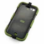 "PC-268 Shockproof Dustproof Protective Silicone Case w/ Stand for IPHONE 6 4.7"" - Army Green"