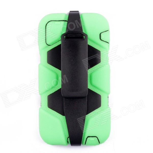 PC-268 Shockproof Dustproof Protective Silicone Case w/ Stand for IPHONE 6 4.7 - Light Green pannovo silicone shockproof fallproof dustproof case for samsung galaxy note 3 camouflage green