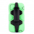 "PC-268 Shockproof Dustproof Protective Silicone Case w/ Stand for IPHONE 6 4.7"" - Light Green"