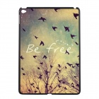 "Elonbo ""Be Free"" Pattern Plastic Back Case for IPAD AIR 2 - Beige + Green + Multi-Color"