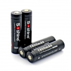 Soshine LiFePO4 1800mAh 3.2V Anode Protection 18650 Batteries with Case - Black (4 PCS)