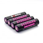 Soshine Li-ion 3100mAh Anode Protection 18650 Batteries with Case - Black (4 PCS)