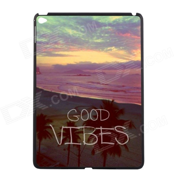 Elonbo U16W14 Scenery Style Protective Plastic Back Case for IPAD AIR 2 - Purple + Yellow