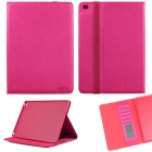 ENKAY ENK-3509 Protective Smart PU Leather Case w/ Stand / Card Slots for IPAD AIR 2 - Deep Pink