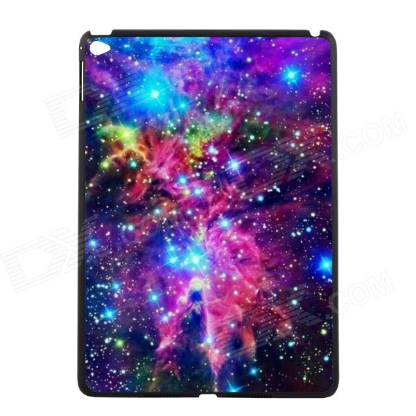 Elonbo Starry Sky Pattern Protective Plastic Back Case for IPAD AIR 2 - Purple + Blue + Multi-Color
